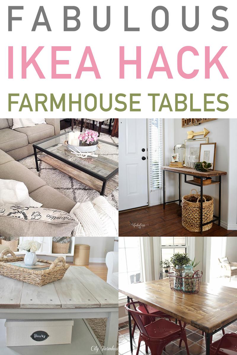 Fabulous Ikea Hack Farmhouse Tables The Cottage Market