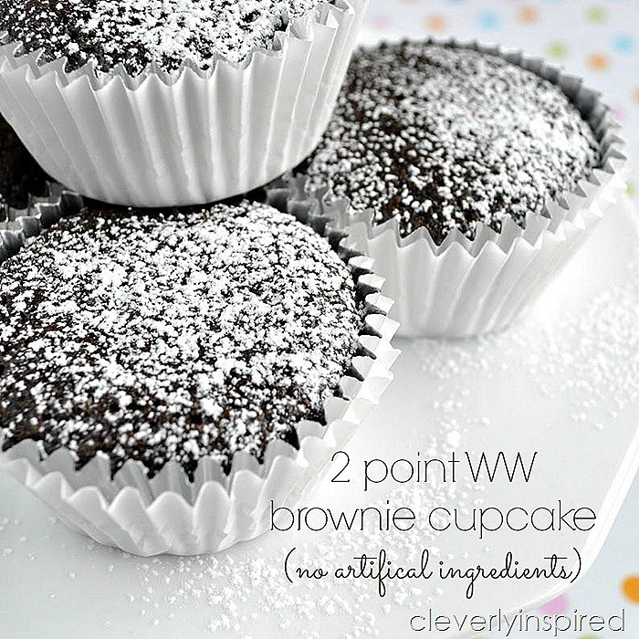 These brownie cupcakes dusted with powdered sugar are decadent.