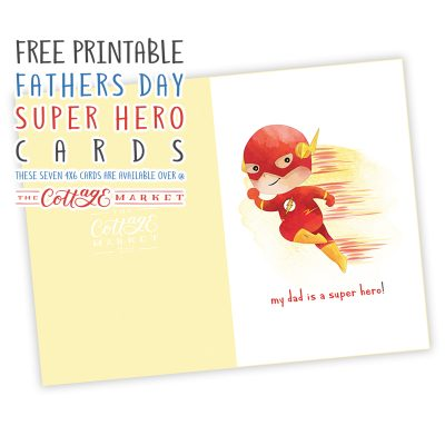 Free Printable Father's Day Super Hero Cards