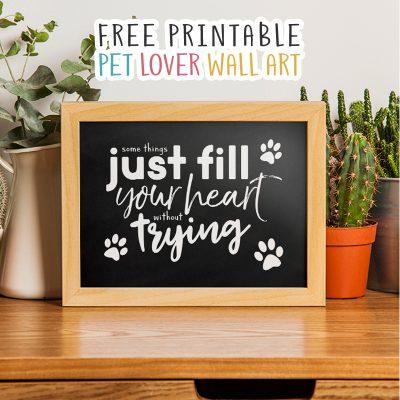 Free Printable Pet Lover Wall Art