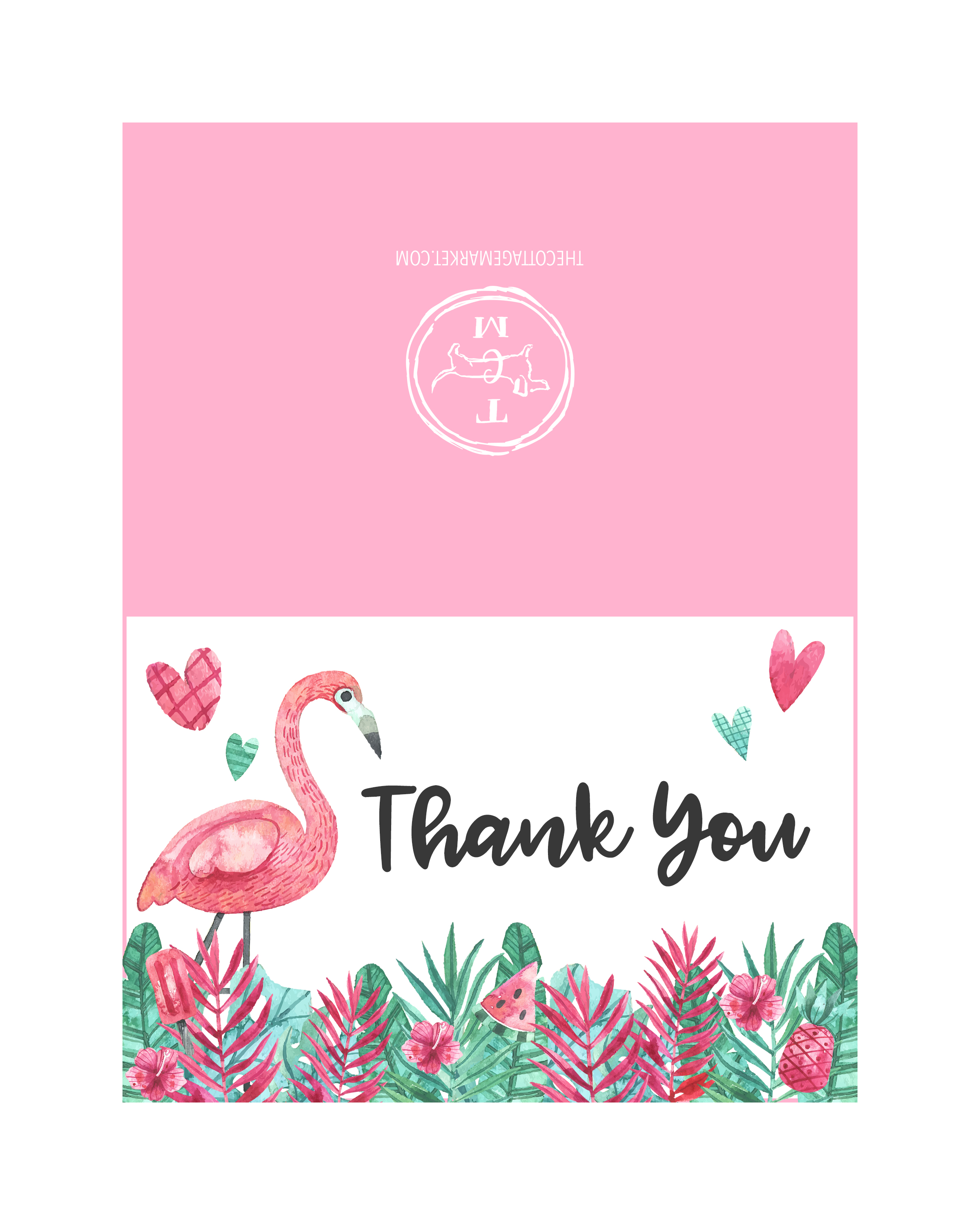 Free Printable Flamingo Party Pack   The Cottage Market