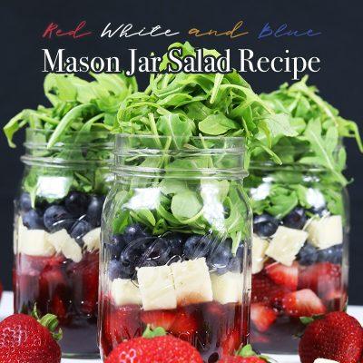 Red White and Blue Mason Jar Salad Recipe