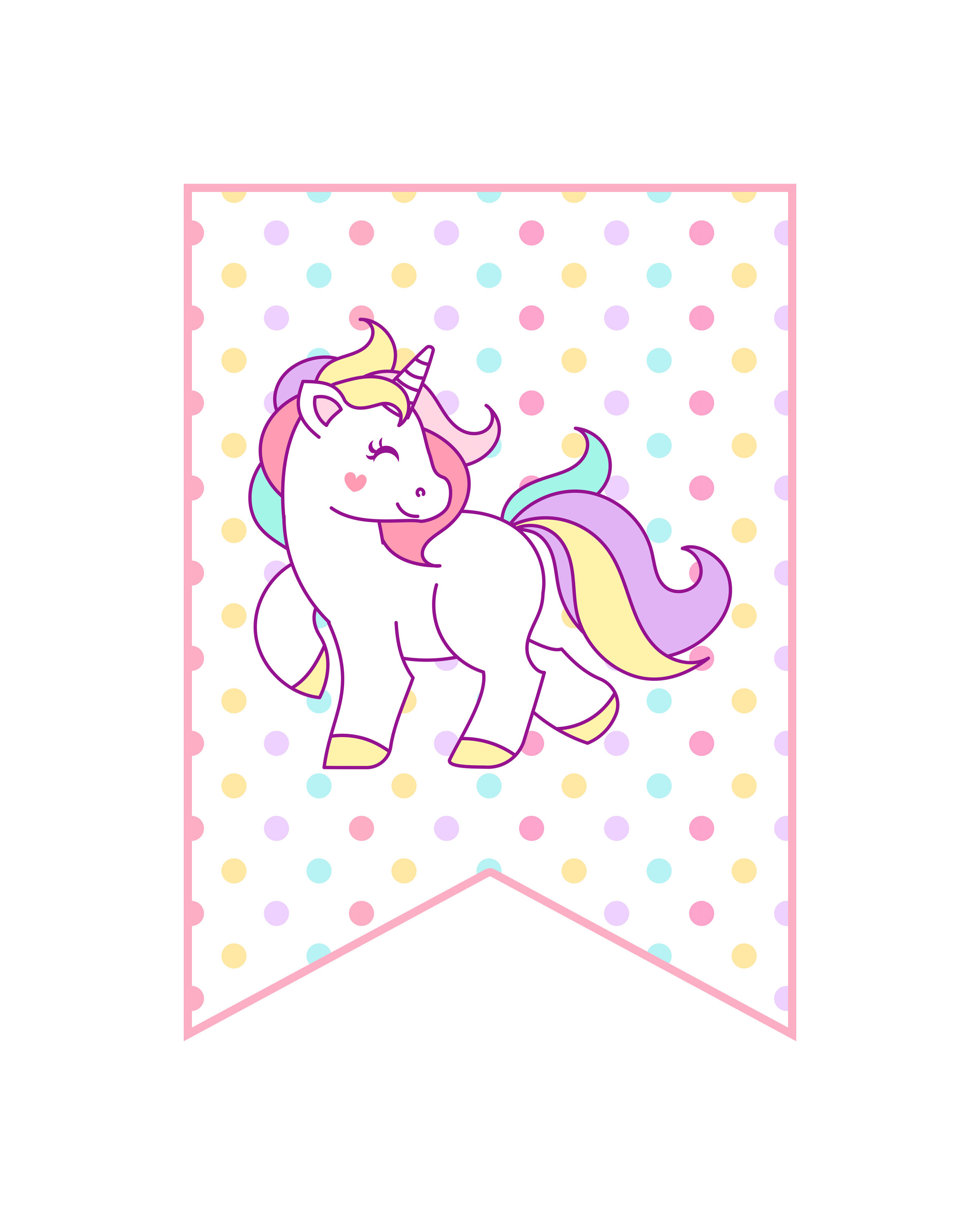Free Printable Unicorn Party Decorations Pack The Cottage Market