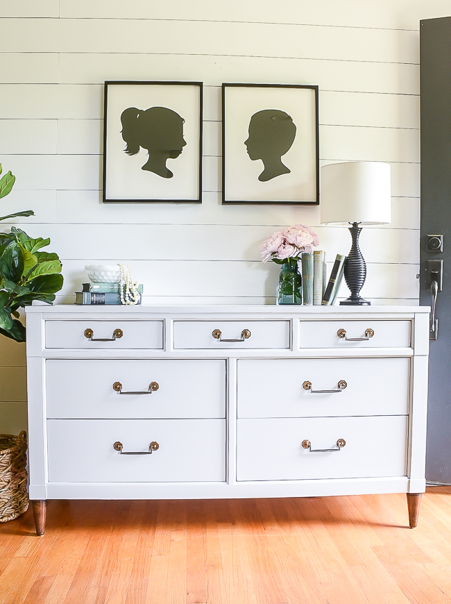 This dresser got a coat of fresh paint and it's as good as new