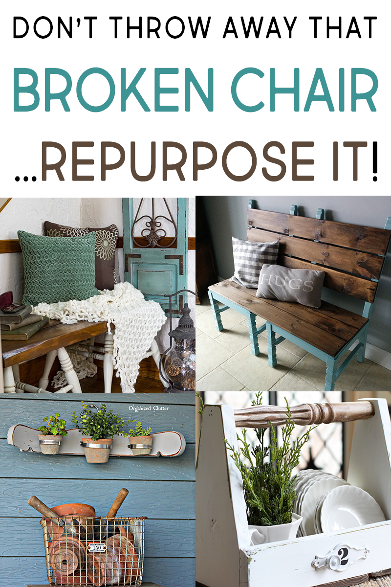 Even broken things can be repurposed into awesome decorative pieces for around your home