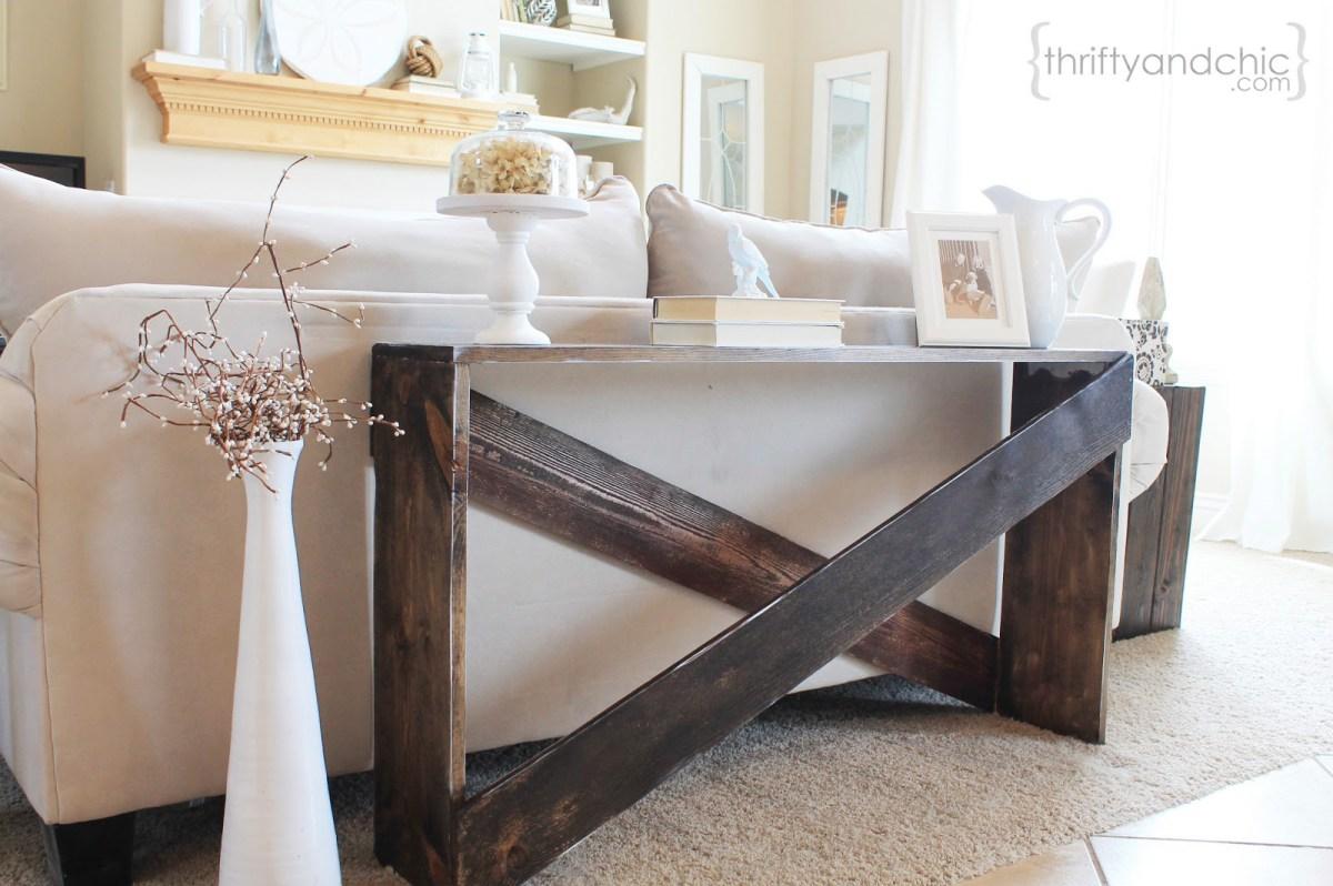 Diy Farmhouse Sofa Tables That Won T Break The Budget The Cottage Market