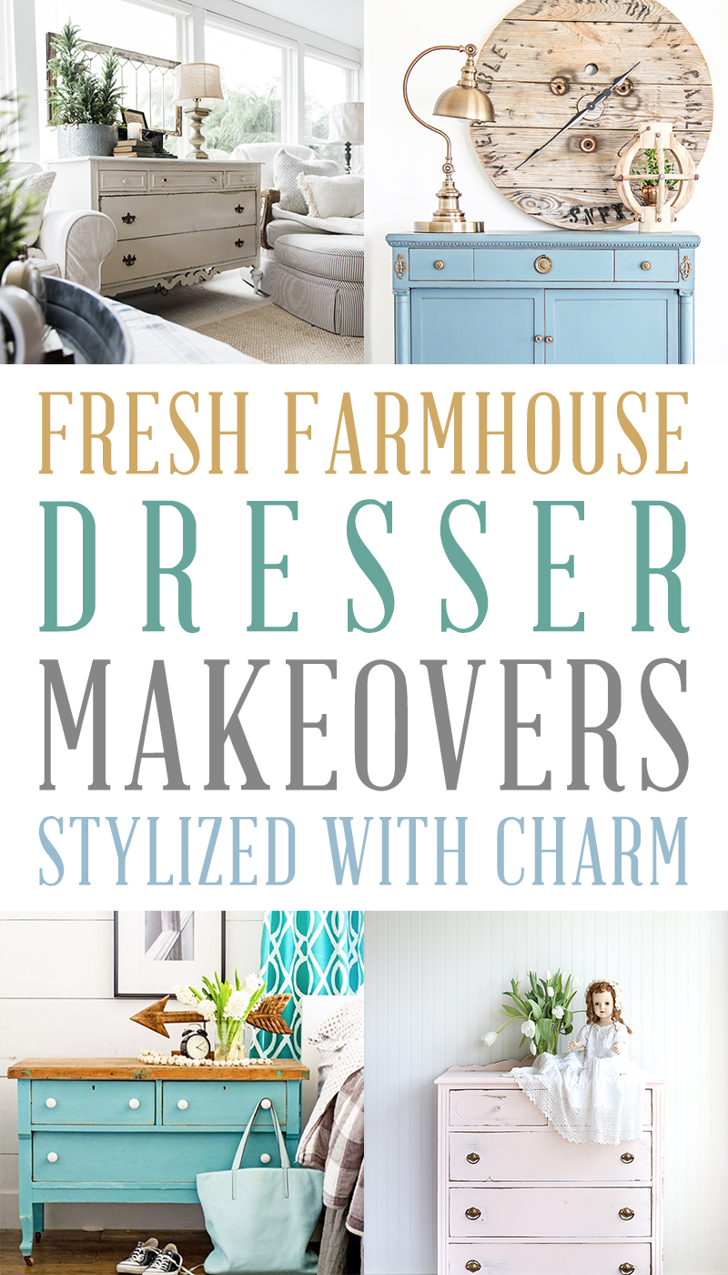 These fresh farmhouse dresser makeovers are charming and creative.