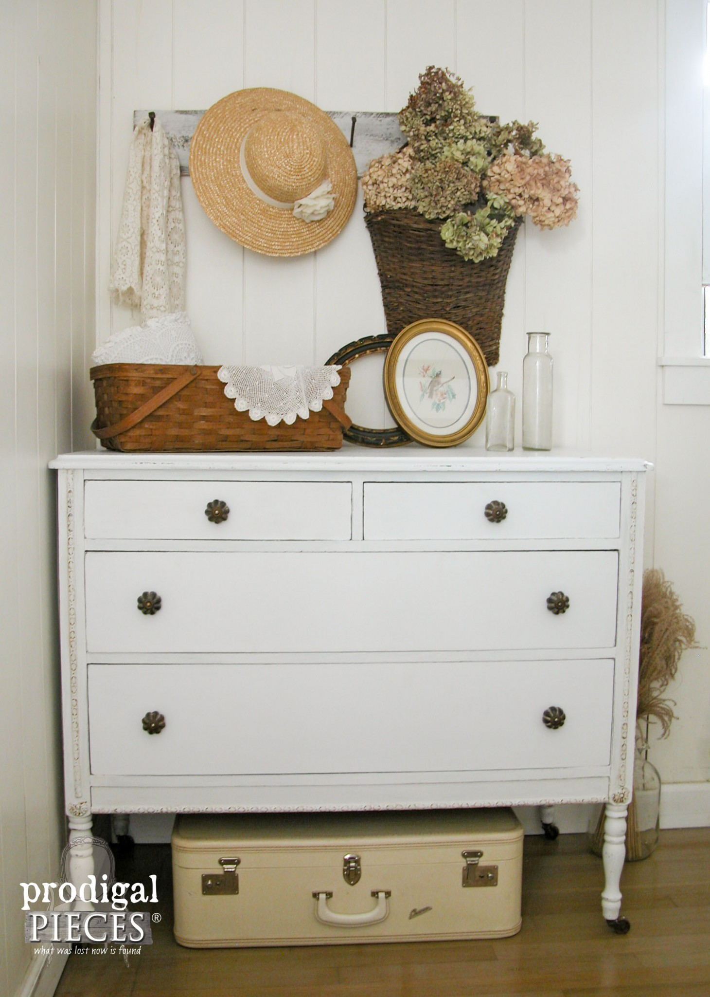 This white dresser is classic and timeless in design.