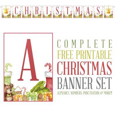 Complete Free Printable Christmas Banner Set