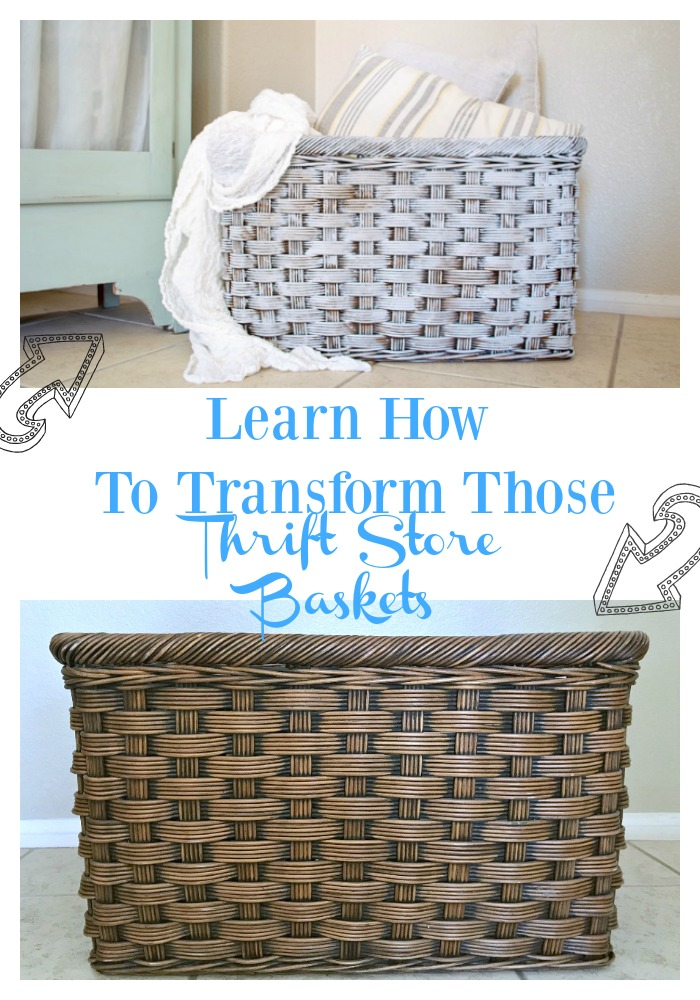 Breathe new life into those thrift store woven baskets with simple techniques