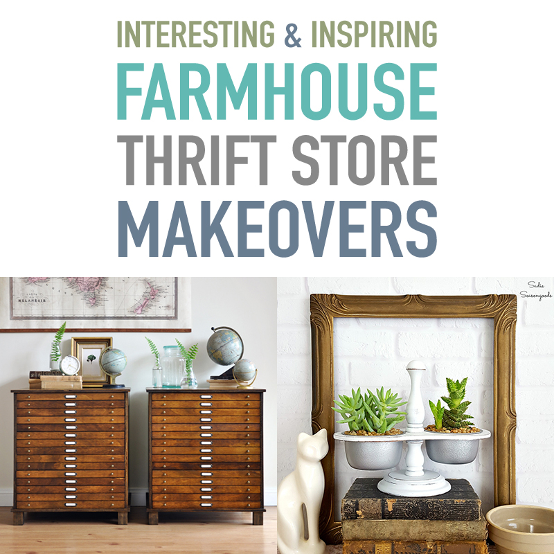 Interesting and Inspiring Farmhouse Thrift Store Makeovers