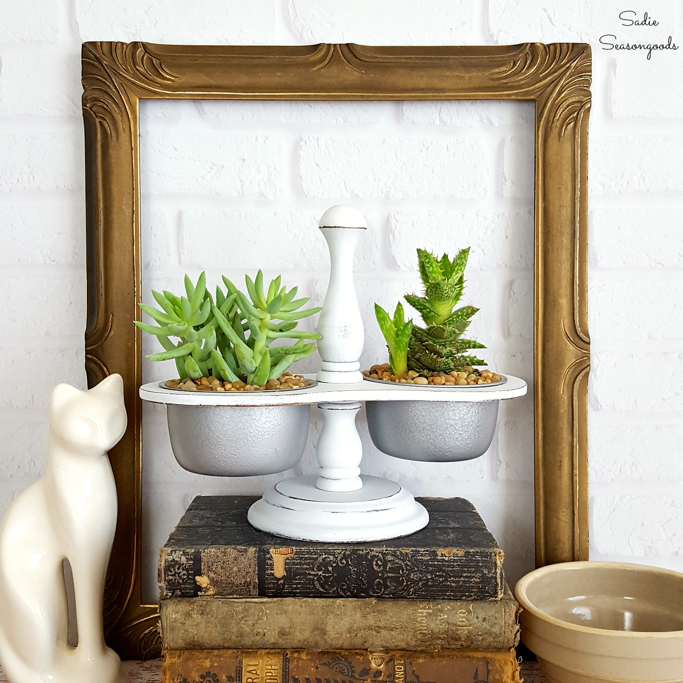 This condiment caddy had an amazing transformation into a duo planter