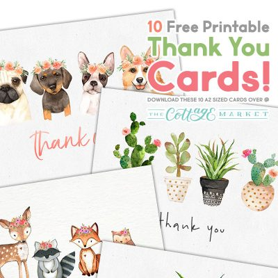 10 Free Printable Thank You Cards You Can't Miss