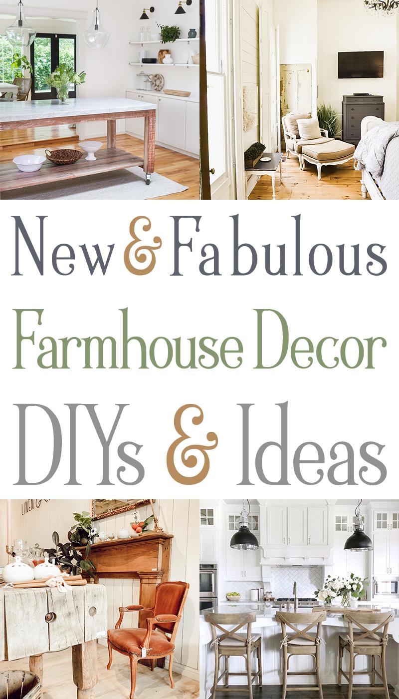 New & Fabulous Farmhouse Decor DIY Ideas