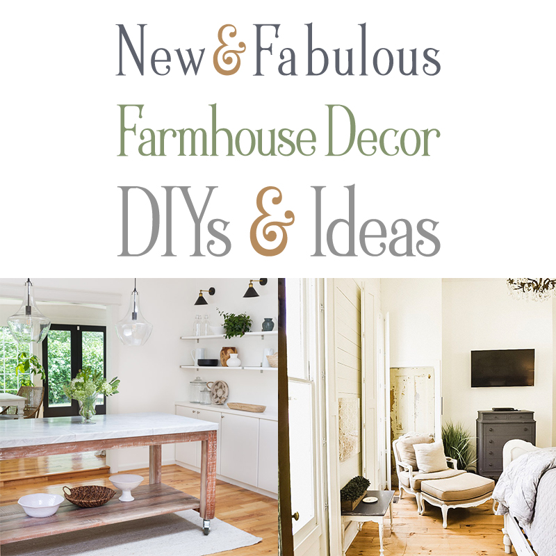 It's time to find out what is happening in the Farmhouse World This week...so here are some New and Fabulous Farmhouse Decor DIYS & Ideas!