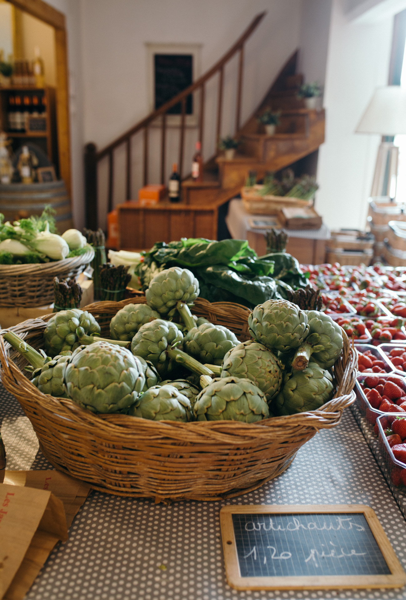 This farmhouse style vegetable display is worth obsession over