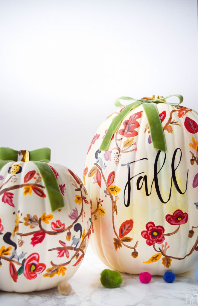 Come and visit and check out all of these Farmhouse Style No Carve Pumpkins for Fall! So many different Styles that require no carving mess!