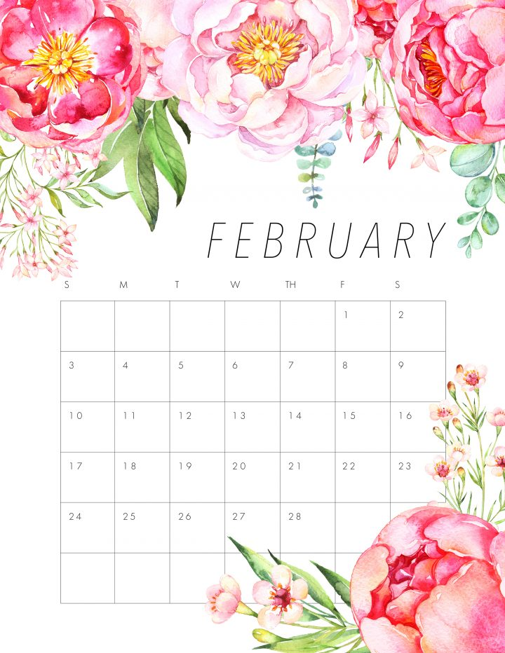 We are thrilled today to roll out another Free Printable 2019 Calendar! Today we have a Free Printable 2019 Floral Calendar that we hope you love!
