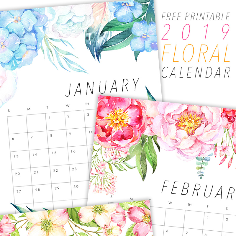 Cieszymy się dzisiaj, że możemy wprowadzić kolejny darmowy kalendarz 2019 do druku! Dziś mamy bezpłatny kalendarz kwiatowy 2019 do druku, który mamy nadzieję, że kochasz!
