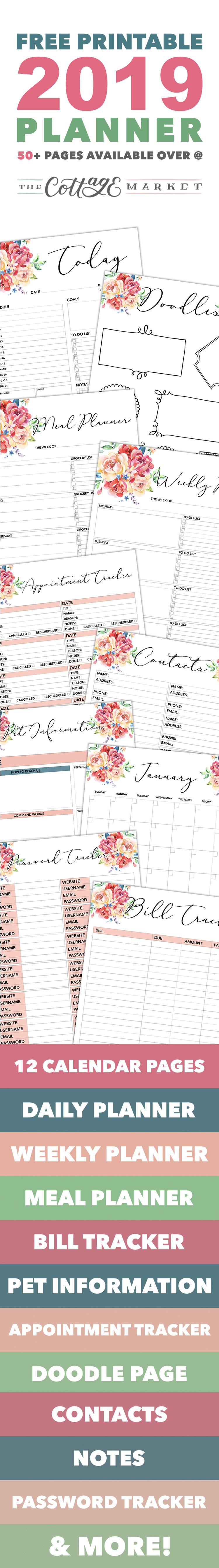 Come on in and snatch up your Free Printable 2018 Planner 50 Plus Printable Pages!!! You will find everything you need to get organized for the new year!
