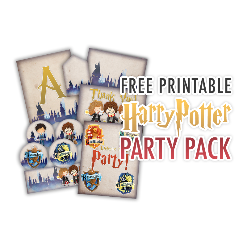 Come and enjoy your Free Printable Harry Potter Party Pack