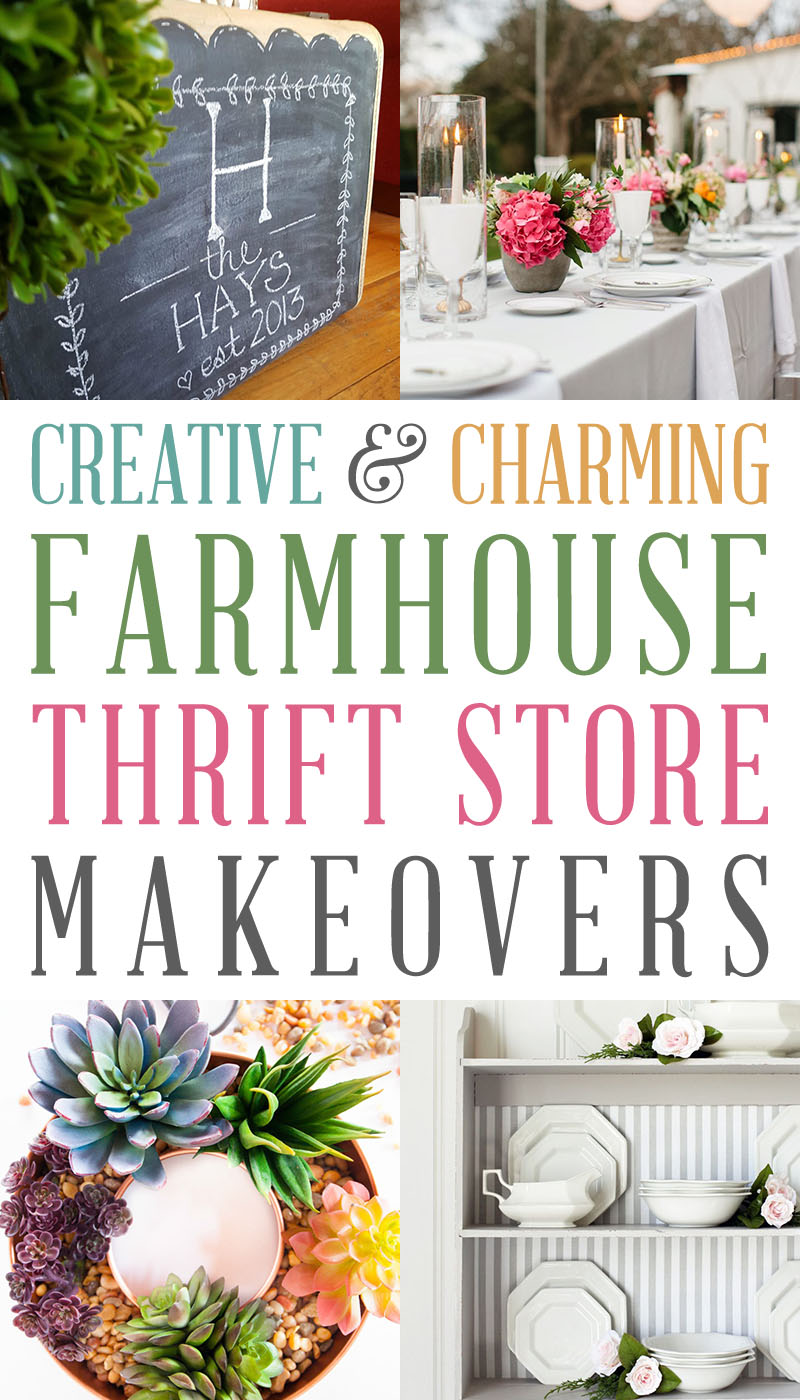 These thrift store makeover ideas are creative and charming for your farmhouse.