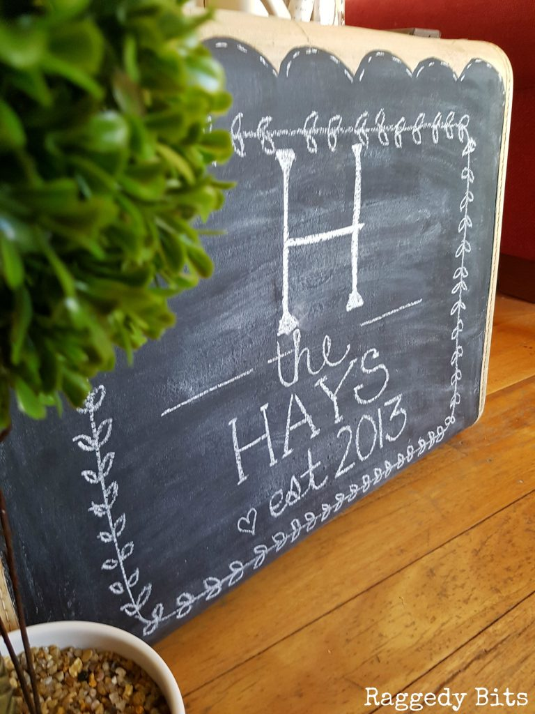 This DIY chalkboard is the perfect personalized farmhouse design element.