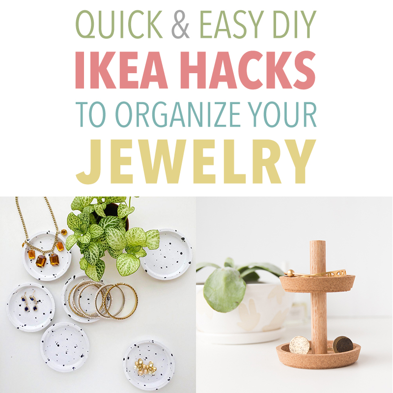 Always wondering where to put your jewlelry when you take it off? Well then check out these Quick and Easy DIY IKEA Hacks to Organize Your Jewelry!