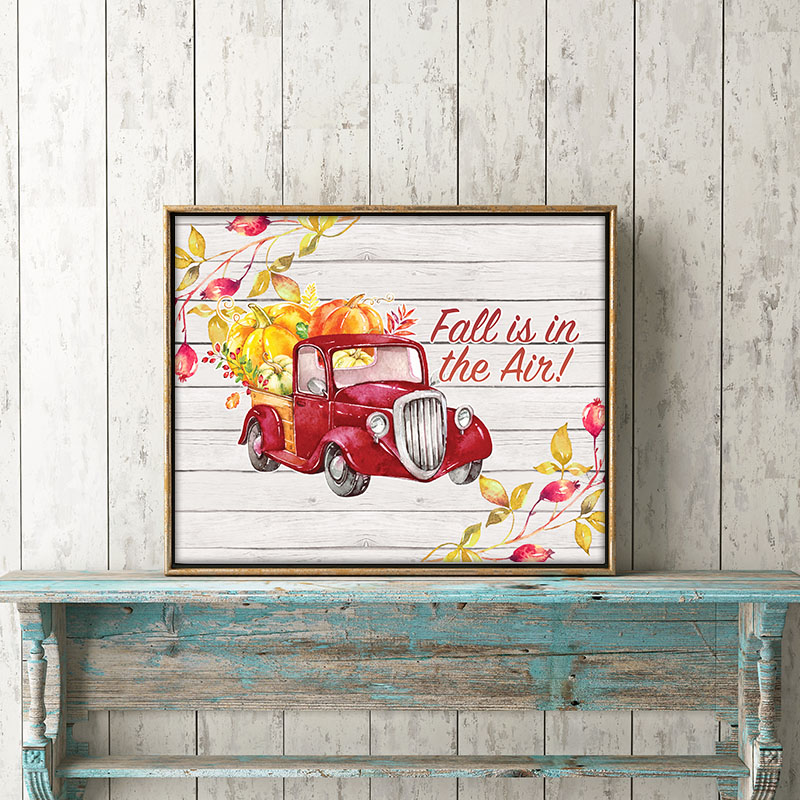 Time to decorate for Fall so it is the perfect time for Free Printable Farmhouse Fall Truck Wall Art! The perfect touch of Autumn!