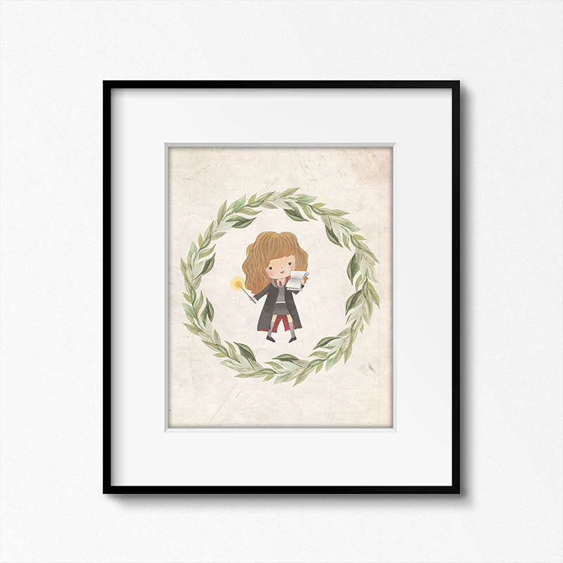 This free Harry Potter themed printable featuring a character is adorable.