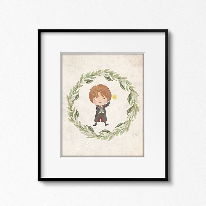 This printable Harry Potter themed printable framed is fun wall decor.