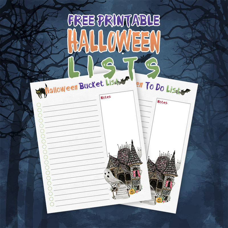 Come on in and check out our brand new Free Printable Halloween Lists. You can use them for all those things you have to do for Halloween!