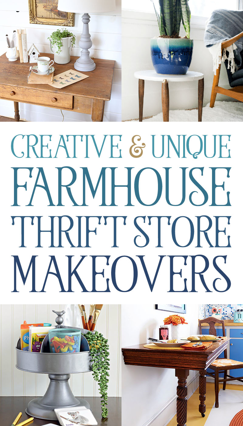 Come and check out these amazing Creative and Unique Thrift Store Makeovers! So much inspiration awaits! Check out the techniques and style! ENJOY!