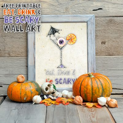 Free Printable Eat, Drink & Be Scary! Wall Art