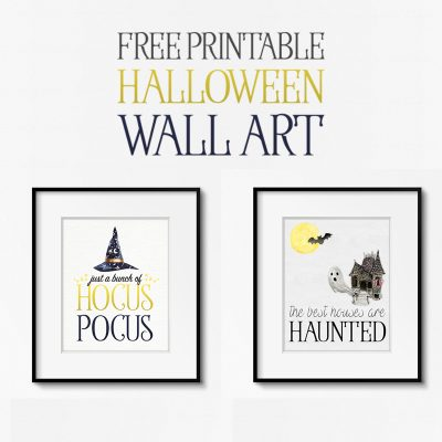 Free Printable Halloween Wall Art