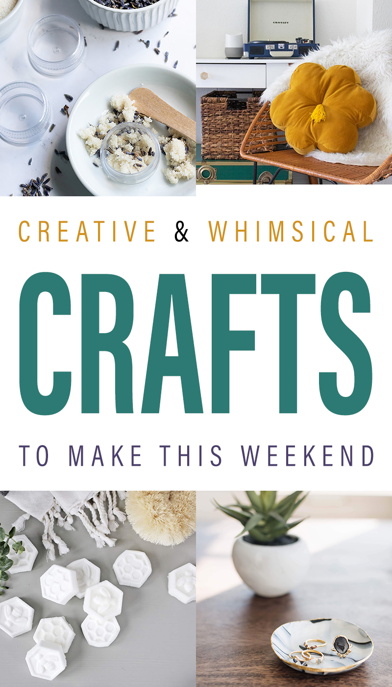 Come on in and check out al of these Creative and Whimsical Crafts To Make This Weekend! You are going to find one that is a must make for sure!