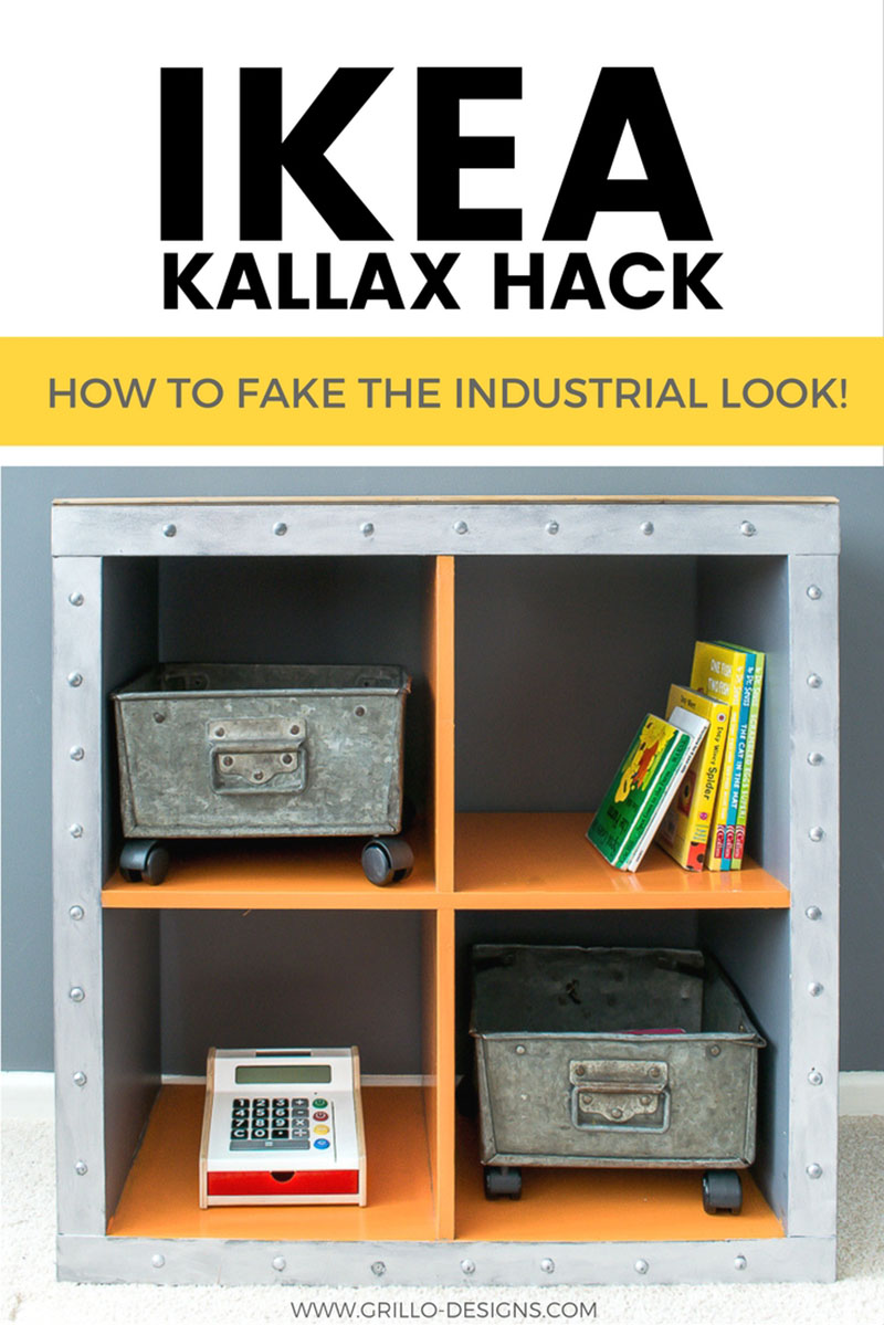 Love the Industrial Farmhouse Look? Well then see how this IKEA Kallax Hack was made!