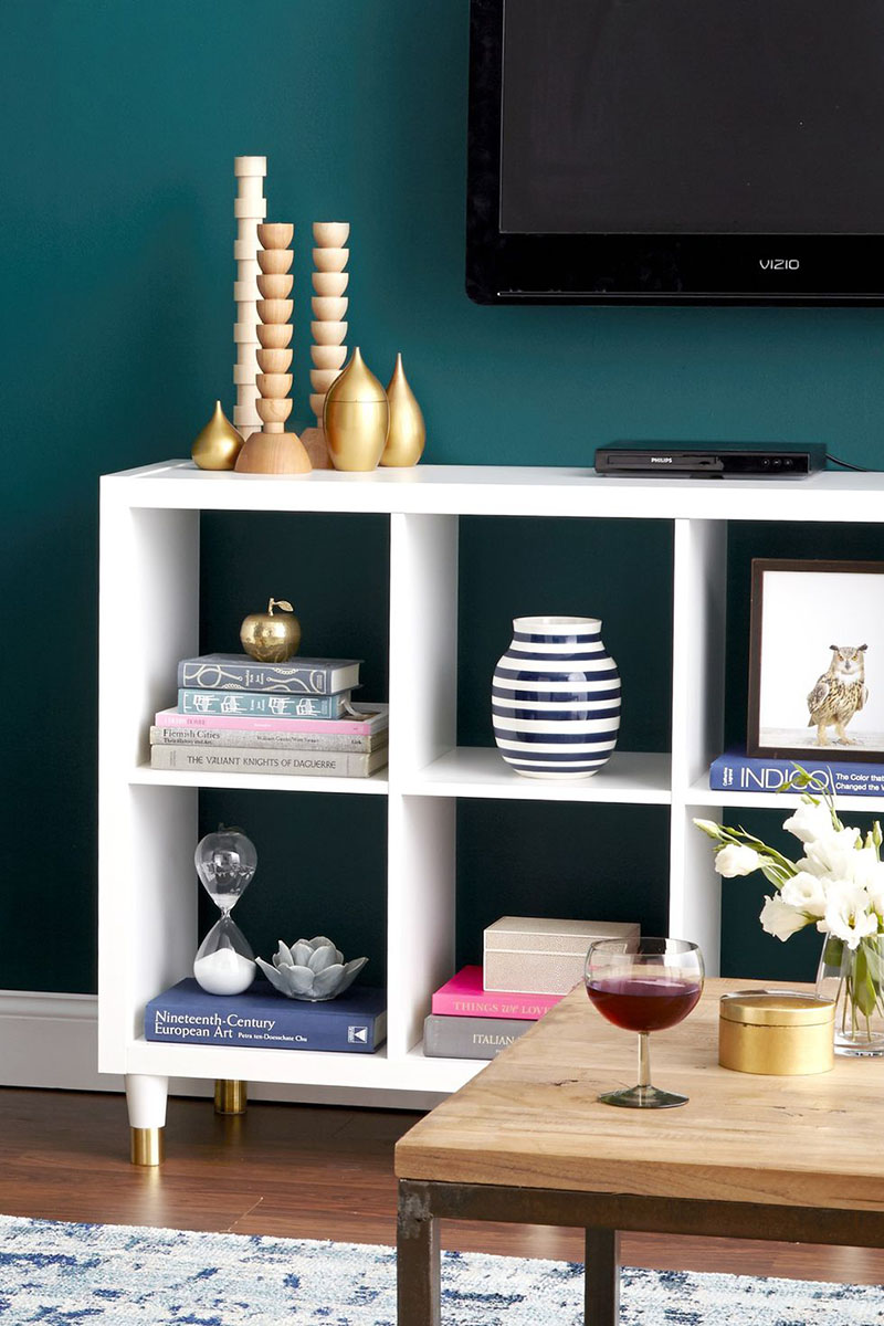 Create a beautiful IKEA Hack Sideboard with tons of style and storage.