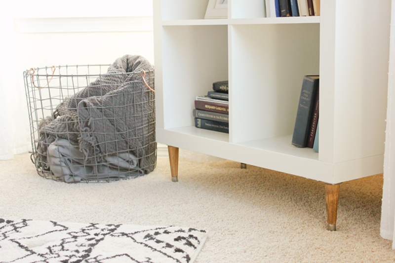 An IKEA Hack with tons of Mid Century Style!  Perfect Storage and Side Table!