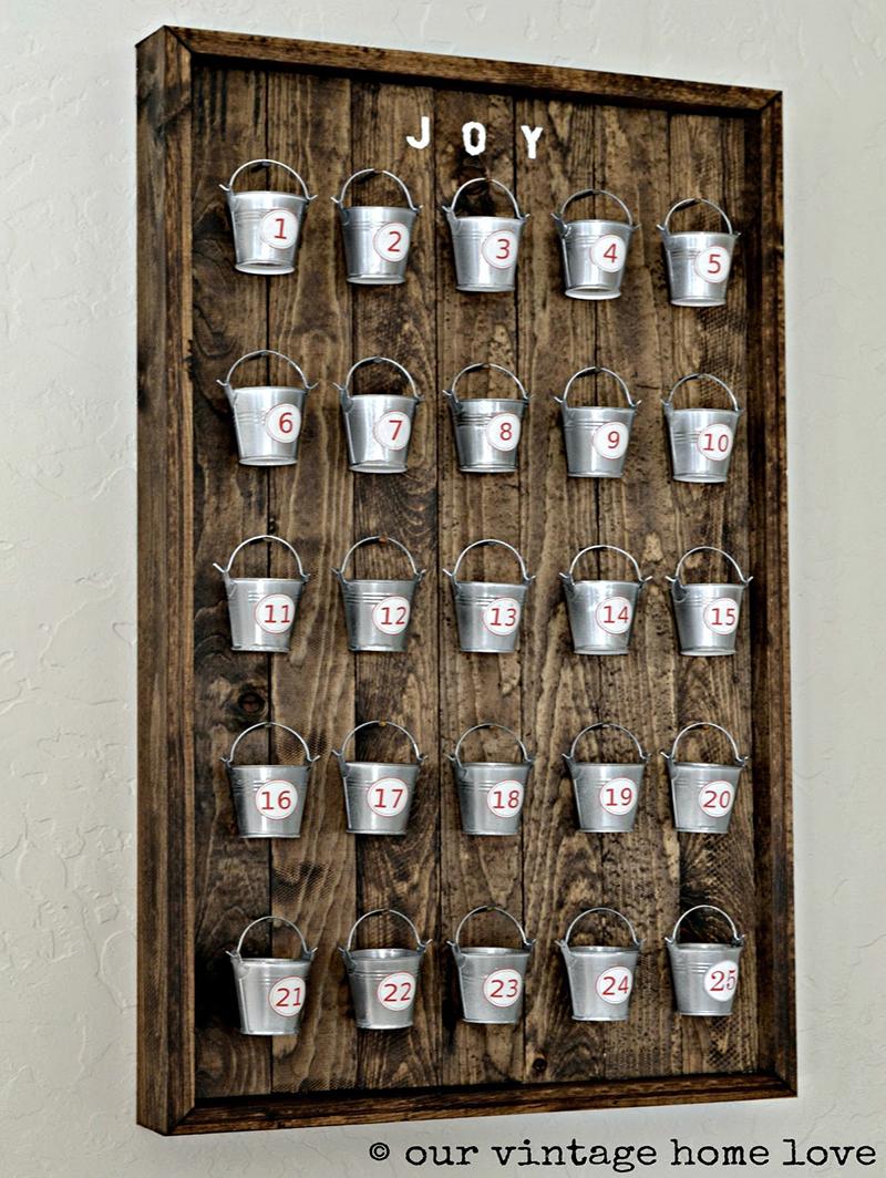 Pottery Barn Inspired Christmas Advent Calendar DIY 7