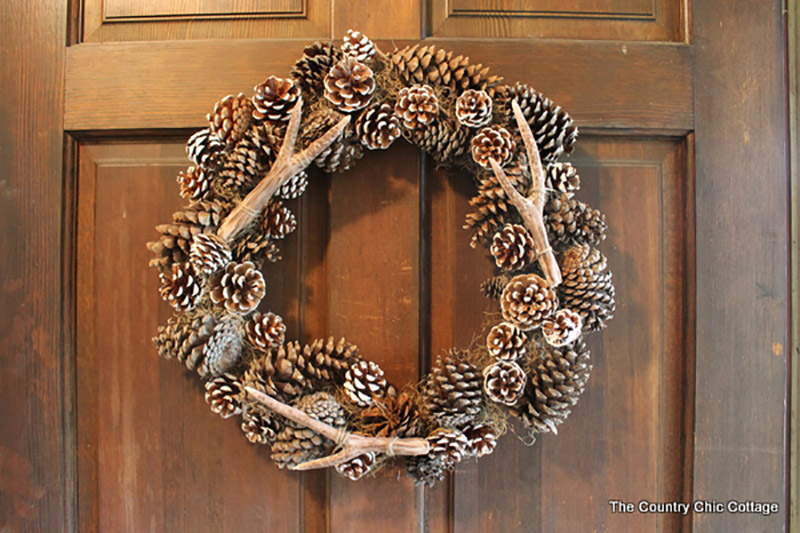 Pottery Barn Knock Off Faux Antler Wreath 2