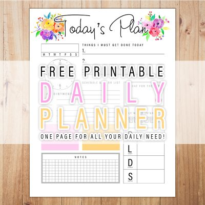 Free Printable Daily Planner /// One Page For All Your Daily Needs!