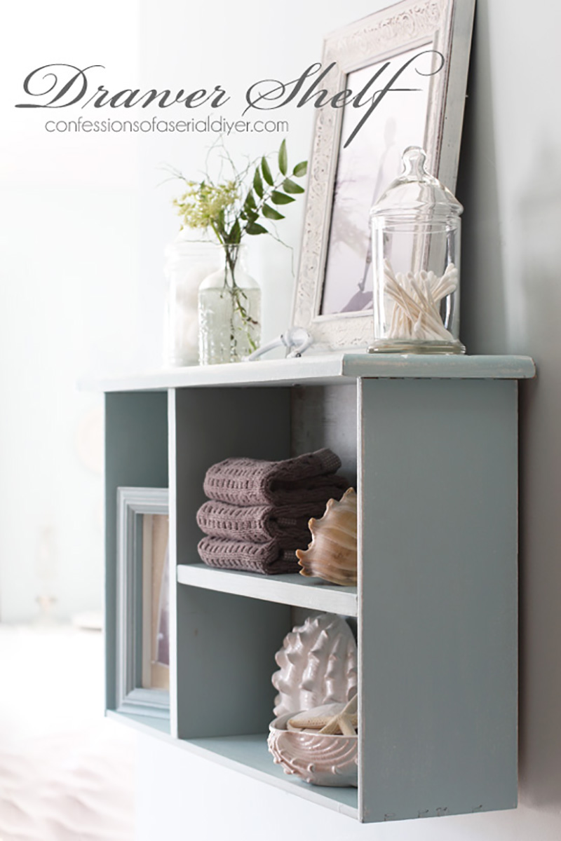 Inspirational Farmhouse Upcycled Drawer Ideas & DIYS is what it is all about here! From Trays to Tables you will see upcycled drawer magic happen!