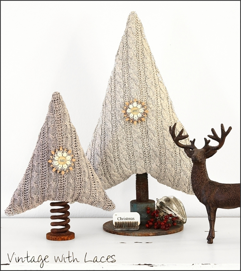 Whimsical Farmhouse Holiday Thrift Store Makeovers that will make your Holiday Season more fun and fabulous! Projects to inspire your own creations!