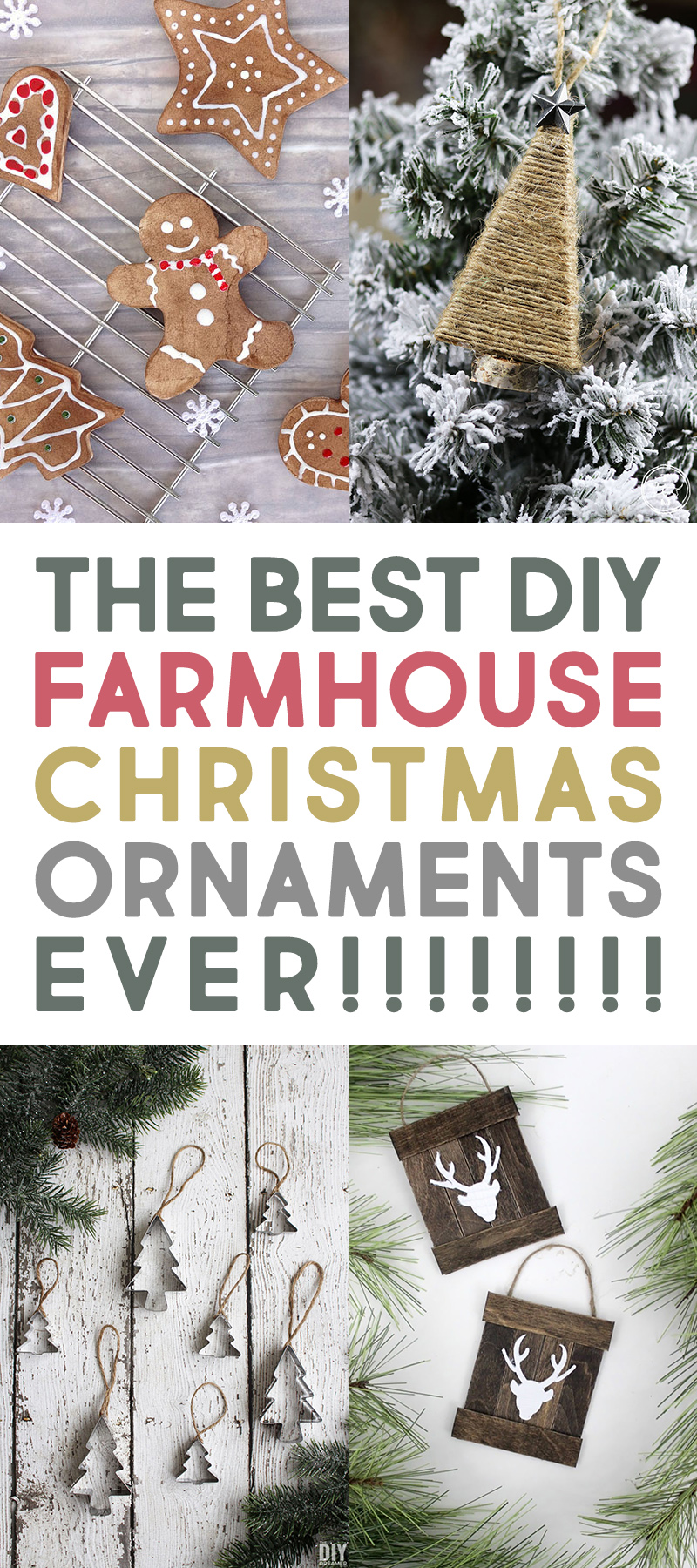 The Best Diy Farmhouse Christmas Ornaments Ever The Cottage Market