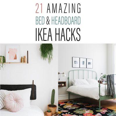 21 Amazing Bed and Headboard IKEA Hacks