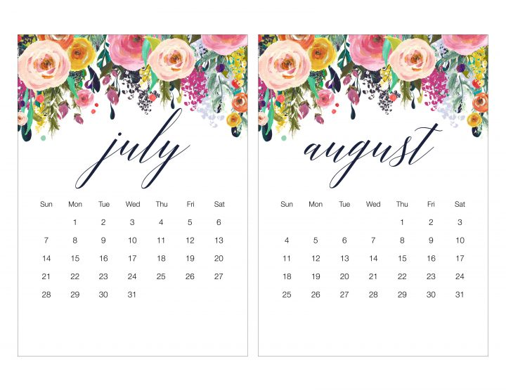 Free Printable Floral Calendar for 2019 which also includes a matching Shopping List, To Do List and Note Pad is waiting for you to print! ENJOY!