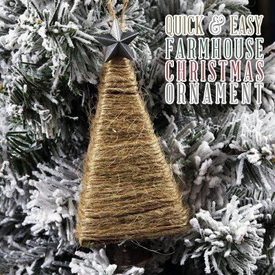 Quick and Easy DIY Farmhouse Christmas Ornament