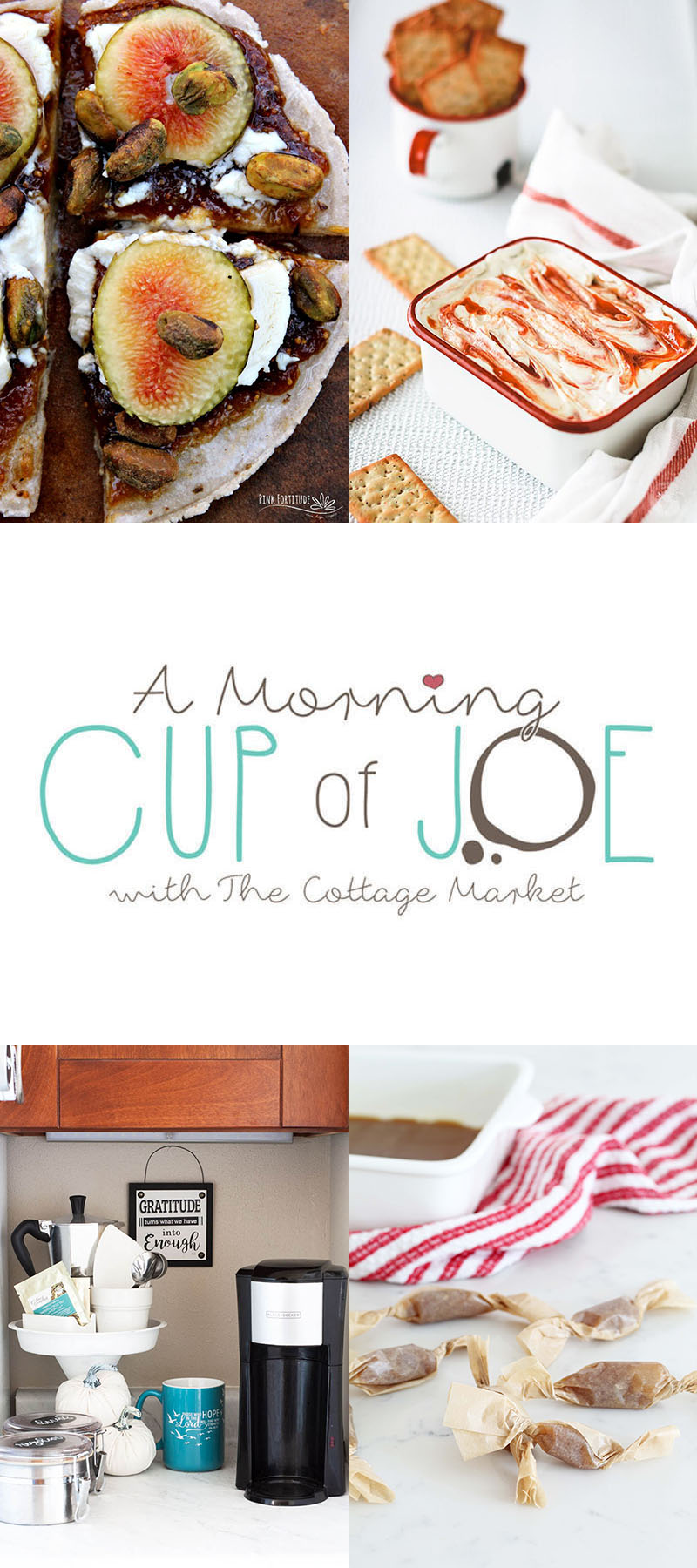 A Morning Cup Of Joe Linky Party and Features are waiting for you here at The Cottage Market. A Place to share your new creations and check out features!