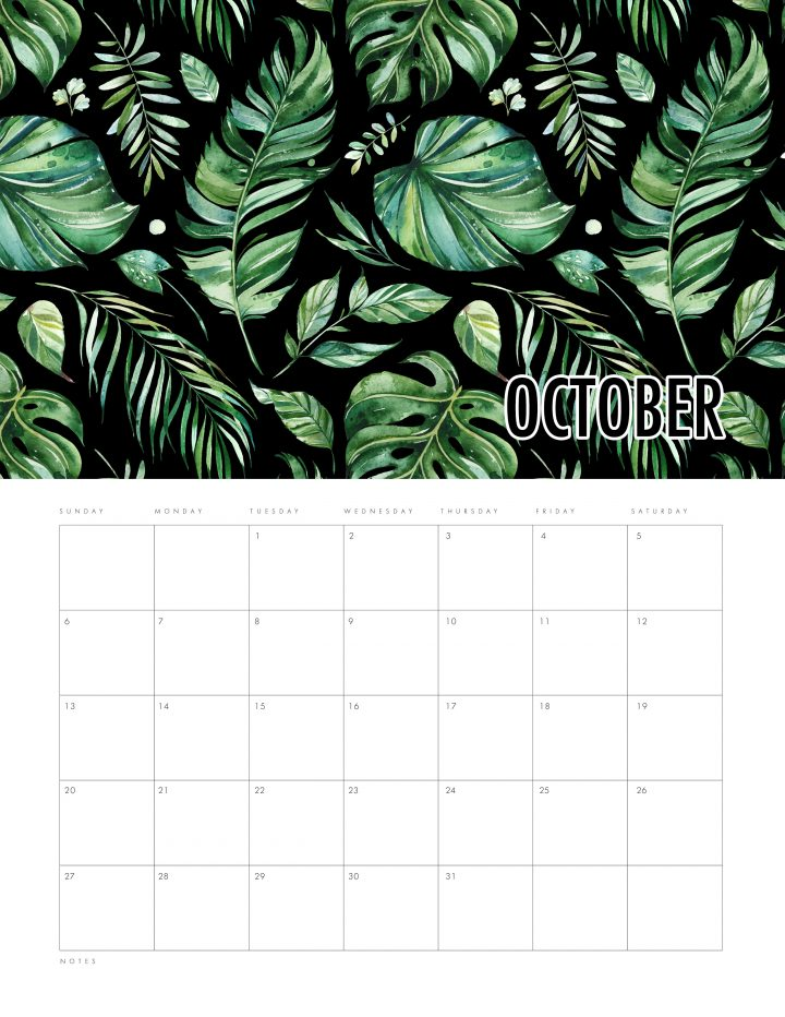 Free Printable 2019 Calendar Modern Leaves Creation is waiting for you over at The Cottage Market! It's perfect for any space or home decor! ENJOY!